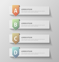 paper infographic621 vector image