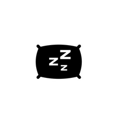 pillow flat icon vector image