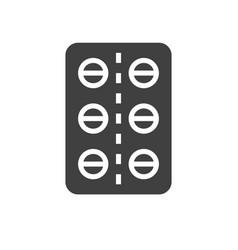 pills tube icon vector image
