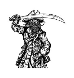pirates holding sword vector image