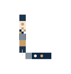 pixel art letter l colorful letter consist of vector image