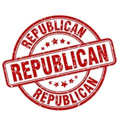 republican red grunge round vintage rubber stamp vector image