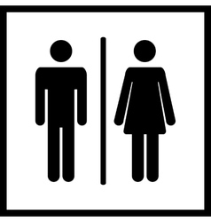 Restroom icon vector