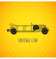 Retro limousine cabriolet car vintage outline vector image