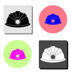 safety helmet hard hat flat icon vector image