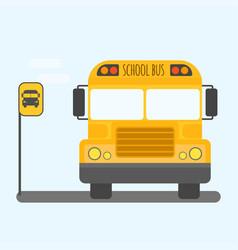 School bus transport for children vector