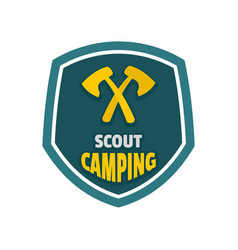scout camping logo flat style vector image