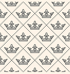 Seamless pattern with crown symbol vector