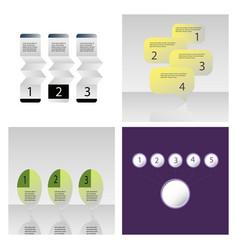 Set of abstract infographics number options vector