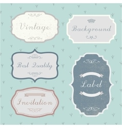 Set of vintage retro labels frames vector