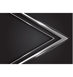 Silver arrow direction on grey background vector