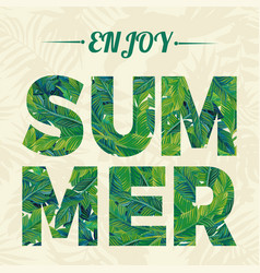 slogan enjoy summer vector image