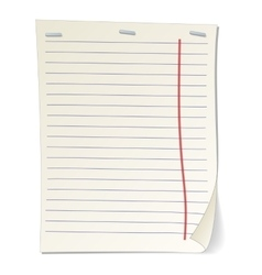 Stripped notebook paper cartoon vector image