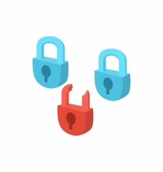 Symbol of internet security with padlocks icon vector image