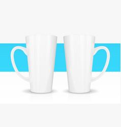 template ceramic white mug vector image