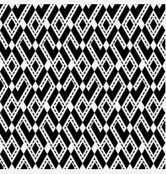tribal ethnic rhombus monochrome seamless pattern vector image