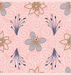 tropical flowers seamless pattern repeat on vector image