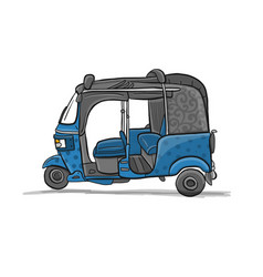 Tuktuk motorbike asian taxi sketch for your vector