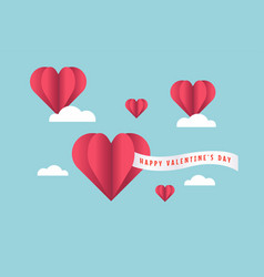 valentines day balloon heart with text i love you vector image