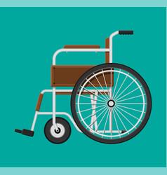 wheelchair in hospital vector image