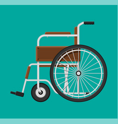 wheelchair in the hospital vector image vector image