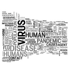 Why bird flu is not a pandemic text word cloud vector