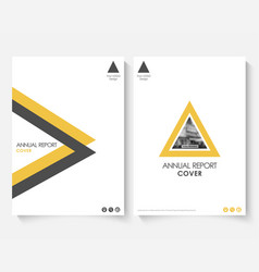 yellow cover design template for annual report vector image