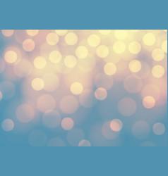 Abstract yellow bokeh light on blue luxury backgro vector