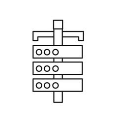 Figure network computer server data information vector