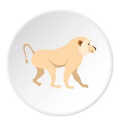 japanese macaque icon circle vector image