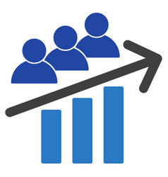 users trend arrow flat icon vector image