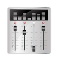 audio mixing panel vector image vector image