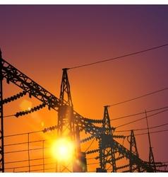 Electrical Transmission Line vector image