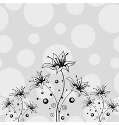 Flower hand drawn design vector image vector image