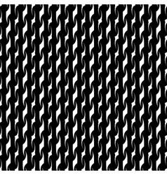 Wavy line white seamless pattern vector image