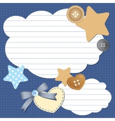 frame with clouds vector image vector image