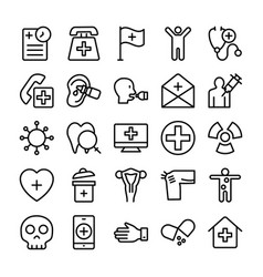 medical health and hospital line icons 12 vector image vector image