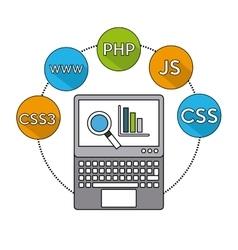 software programming language icons vector image vector image