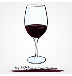 glass of red wine vector image vector image