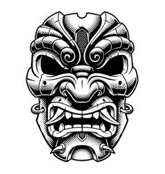 samurai warrior mask vector image vector image