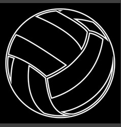 volleyball ball it is icon vector image vector image
