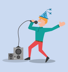 young man party celebration vector image