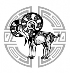 zodiac signs aries vector image vector image