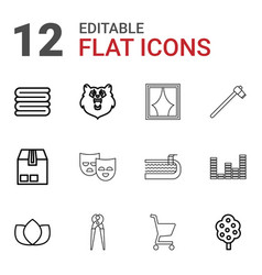 12 background icons vector