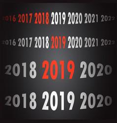 2019 new year counter christmas congratulation vector image