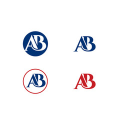 Ab logo for your business a b logo letter vector