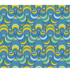 Abstract pattern with lined figures vector image
