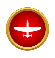 Aircraft icon in simple style vector image