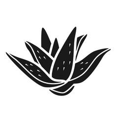 aloe icon simple style vector image