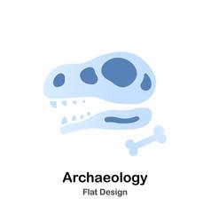 Archaeology flat vector